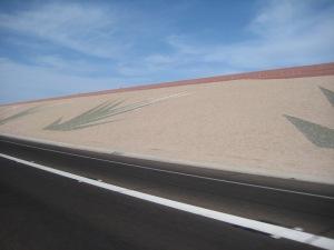 Art work on freeway